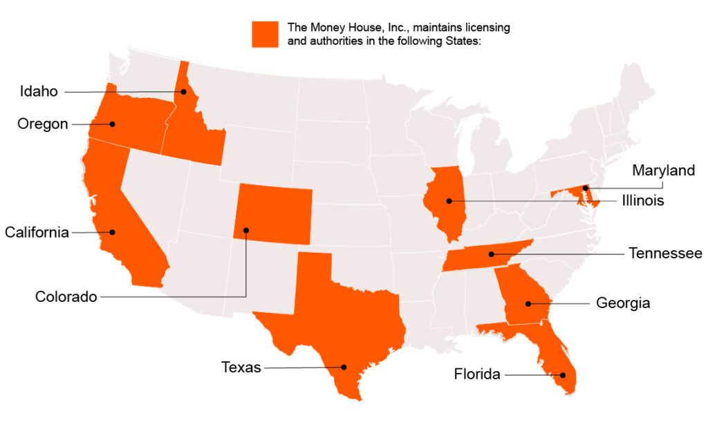 Moneyhouse Licensing Map